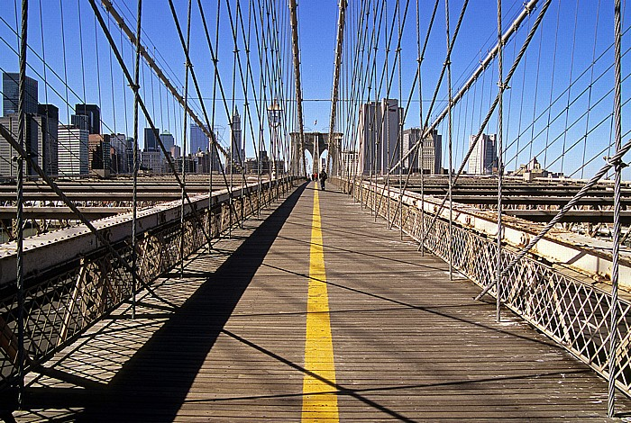 Brooklyn Bridge: Mittelteil New York City