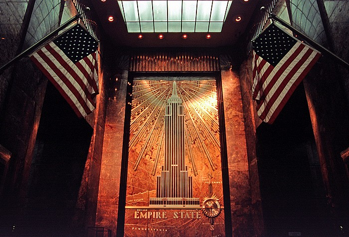 New York Empire State Building: Fifth Avenue Eingangslobby