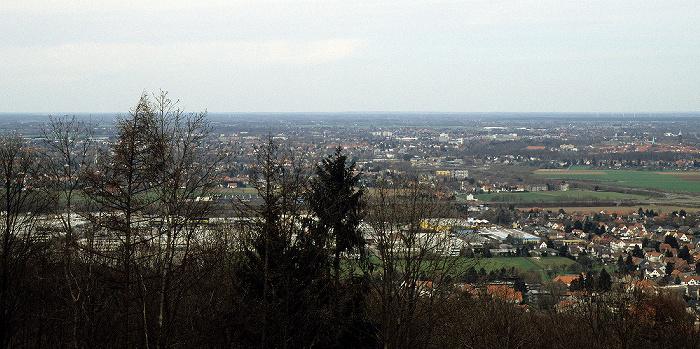 Porta Westfalica Blick vom Kaiser-Wilhelm-Denkmal in Richtung Norden