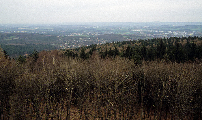 Detmold Blick vom Hermannsdenkmal: Teutoburger Wald