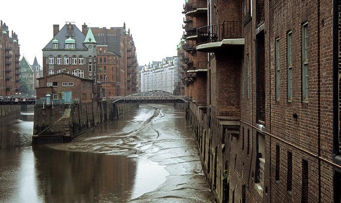 Hamburg Speicherstadt: Wandrahmsfleet, links der Hollandbrookfleet Holländischbrookfleet
