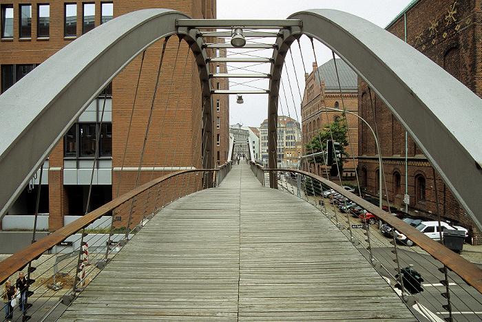Hamburg HafenCity (Speicherstadt): Kibbelstegbrücke Hamburger Hafen