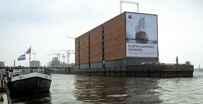 Kaiserhöft (Johns'sche Ecke): Kaispeicher A (künftige Elbphilharmonie Hamburg) Elbe Sandtorhafen