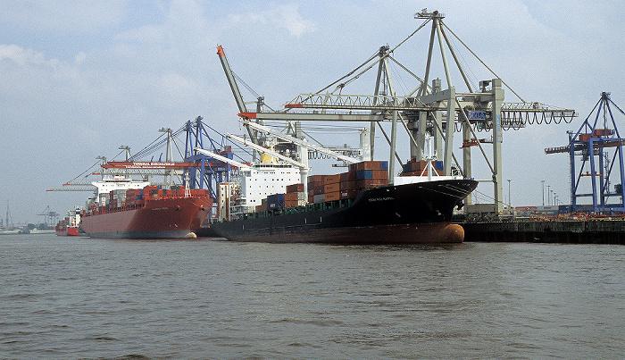 Hafen: Containerterminal Burchardkai - Athabaskakai Hamburg