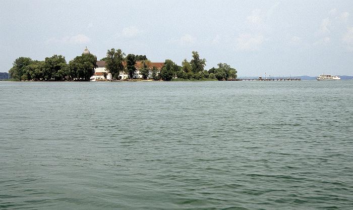 Chiemsee Fraueninsel (Frauenchiemsee) mit Kloster Frauenwörth