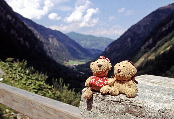 Kapruner Tal Blick von der Talstation des Lärchwand-Schrägaufzuges
