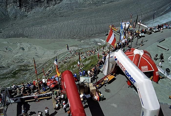 Franz-Josefs-Höhe Zielankuft des Großglockner-Berglaufs