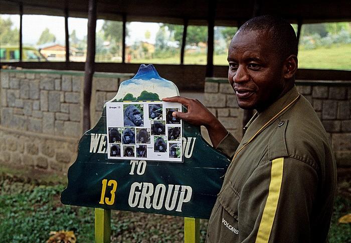 Kinigi Hauptquartier Parc National des Volcans: Beschreibung der Berggorilla-Gruppe 13