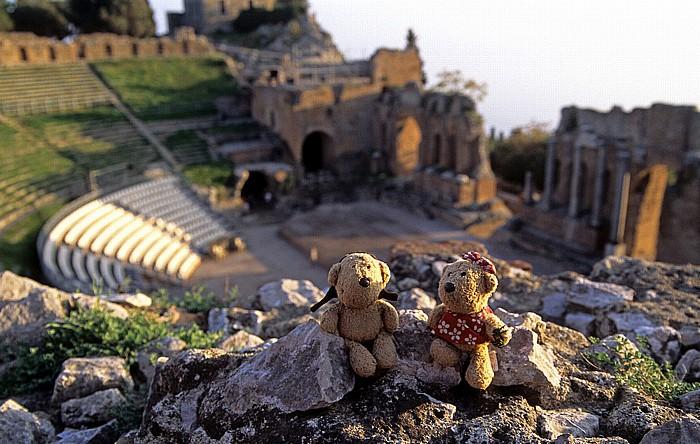 Taormina Griechisch-römisches Theater: Teddy, Teddine
