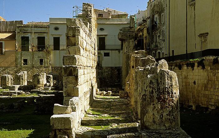 Altstadt: Apollon-Tempel Syrakus