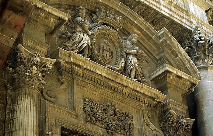 Syrakus Altstadt: Chiesa del Collegio - Teil des Eingangsportals
