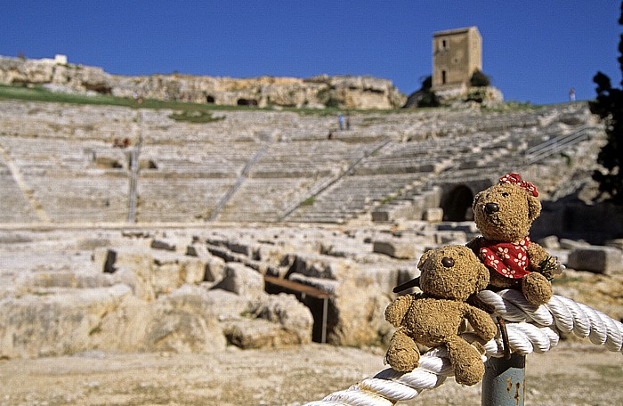 Syrakus Parco Archeologico della Neapoli: Griechisches Theater - Teddy und Teddine