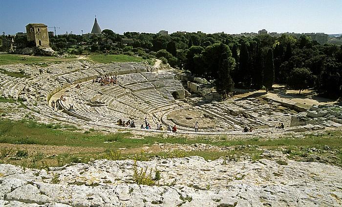 Syrakus Parco Archeologico della Neapoli: Griechisches Theater Il Santuario della Madonna delle Lacrime