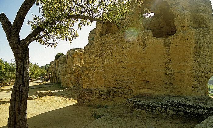 Agrigent Tal der Tempel: Stadtmauer