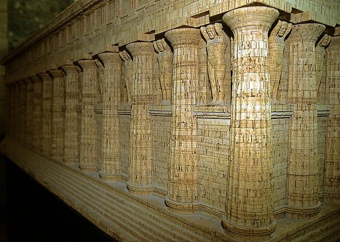 Agrigent Archäologisches Museum: Modell des Tempel des Olympischen Zeus