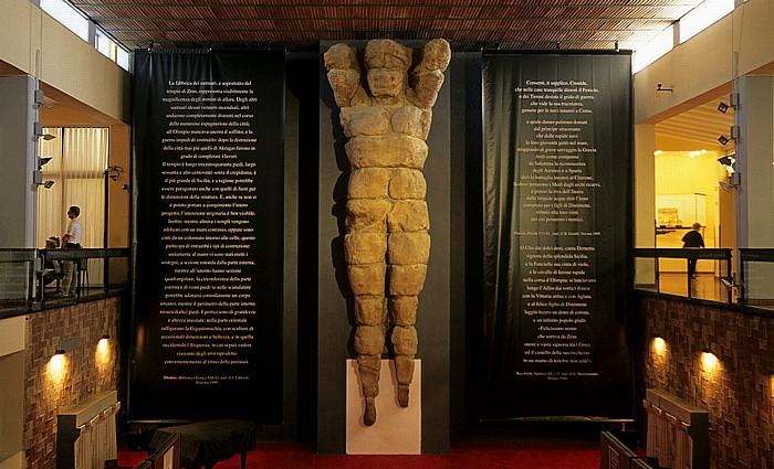 Agrigent Archäologisches Museum: Telamon vom Tempel des Olympischen Zeus