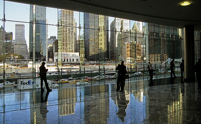 New York World Financial Center: Blick auf Ground Zero