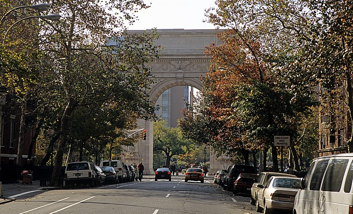 Greenwich Village: Fifth Avenue, Washington Arch, Washington Square Park New York City