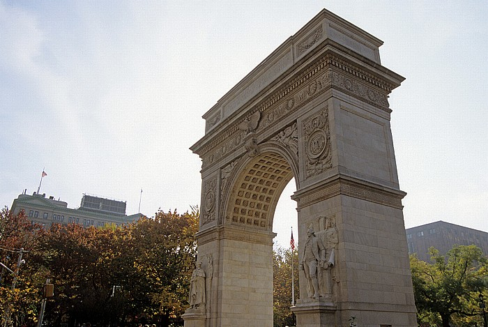 New York Greenwich Village: Washington Arch, Washington Square Park