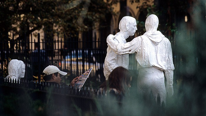 New York Greenwich Village: Christopher Park: Gay Liberation von George Segal