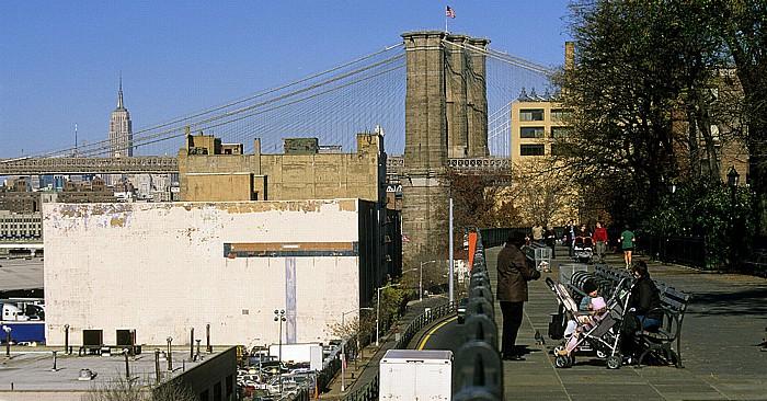 New York Brooklyn Heights Esplanade Brooklyn Bridge Empire State Building
