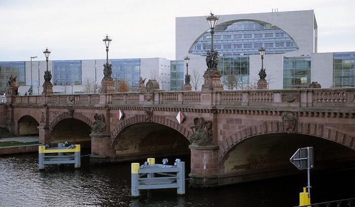 Tiergarten (Regierungsviertel): Bundeskanzleramt, Moltkebrücke Berlin 2006