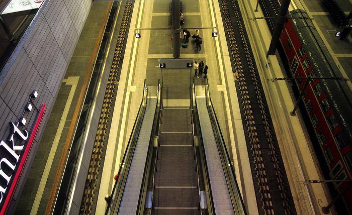 Berlin Hauptbahnhof: Rolltreppen, Untergeschoss
