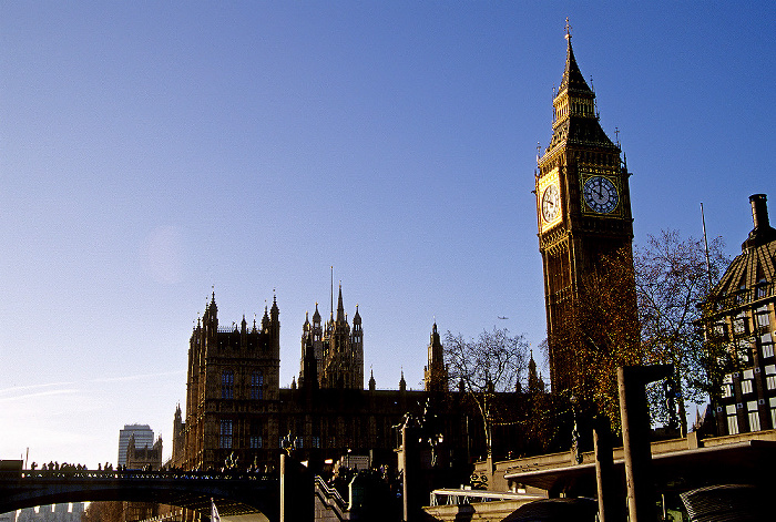 London City of Westminster: Westminster Bridge, Houses of Parliament, Big Ben, Westminster Millennium Pier