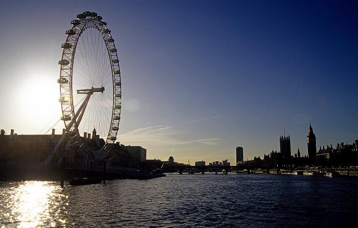 Themse, London Eye (Millennium Wheel) London