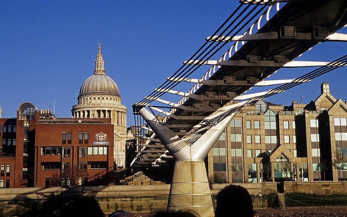 London Millennium Bridge City of London School St Paul's Cathedral