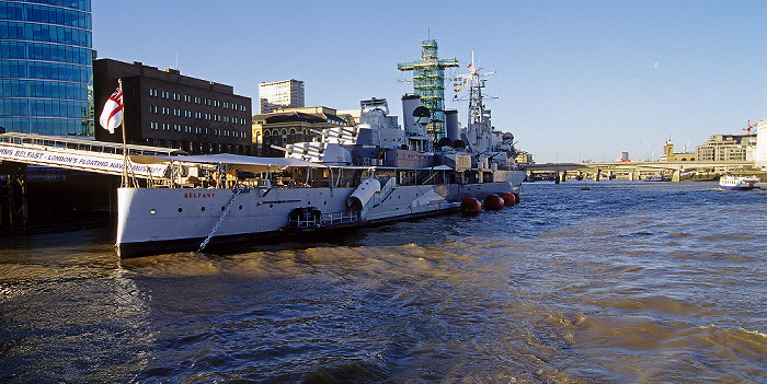 HMS Belfast, Themse London