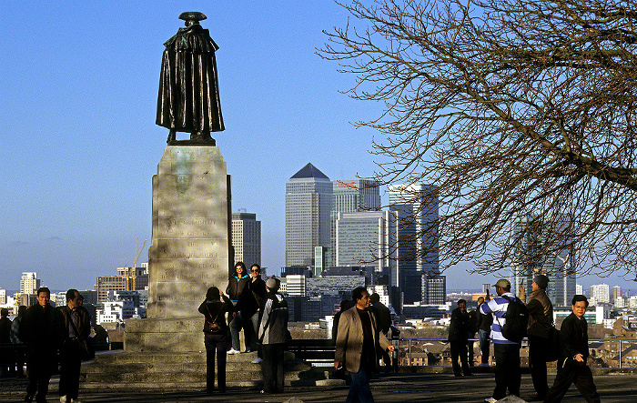 London General-Wolfe-Statue Docklands