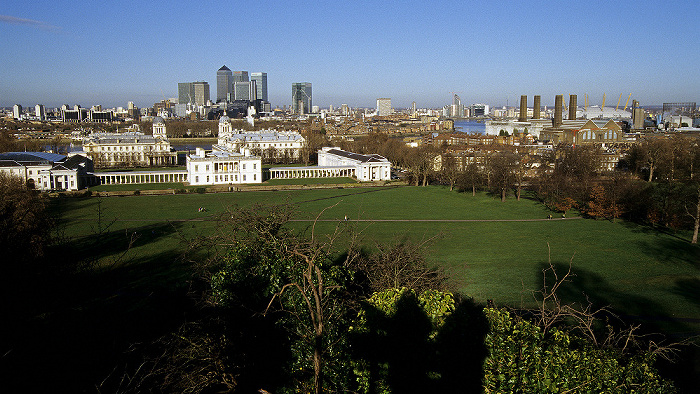 Blick vom Old Royal Observatory London