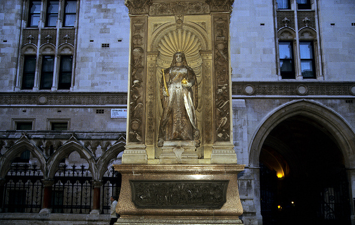 City of Westminster (links) / City of London (rechts): Strand / Fleet Street -  Temple Bar Memorial London