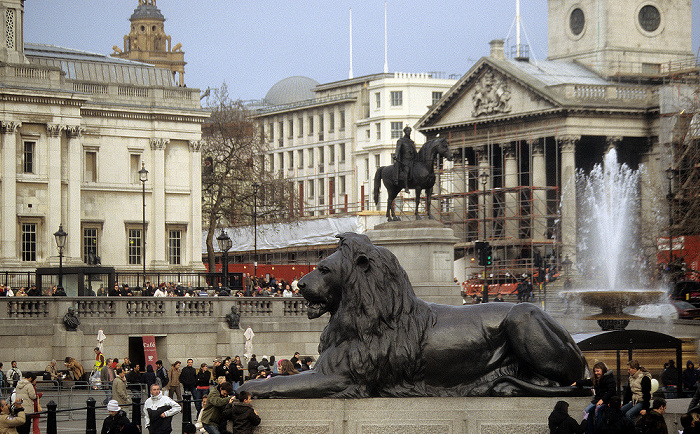 London City of Westminster: Trafalgar Square National Gallery St Martin-in-the-Fields