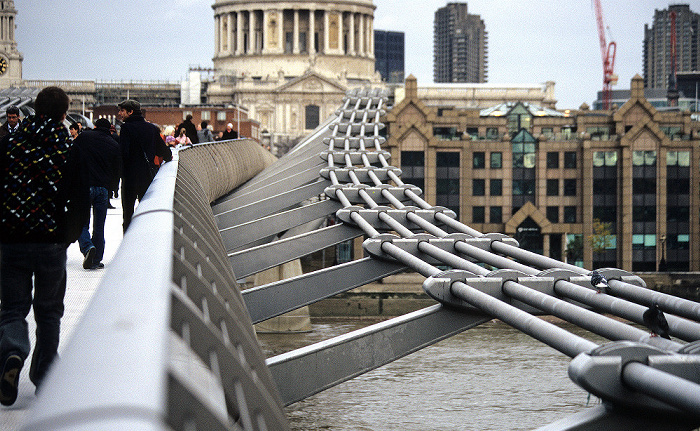 City of London: Millennium Bridge, Themse London
