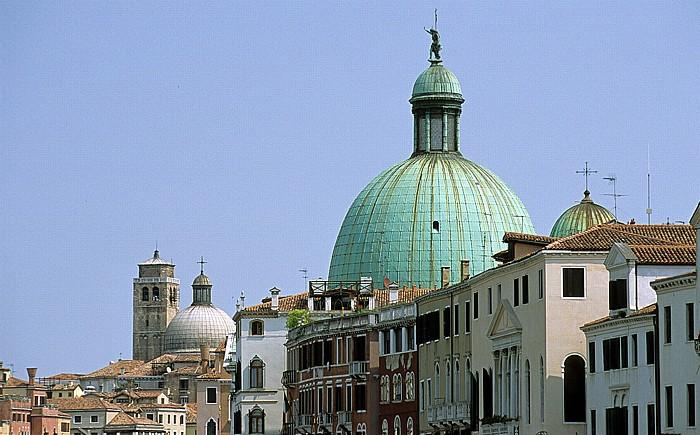 Venedig Rechts San Simeone Piccolo, links San Geremia