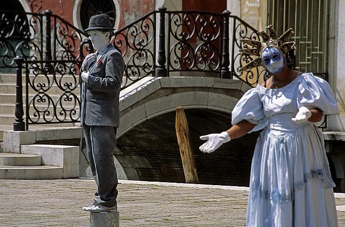 Venedig San Marco: Straßenkünstler