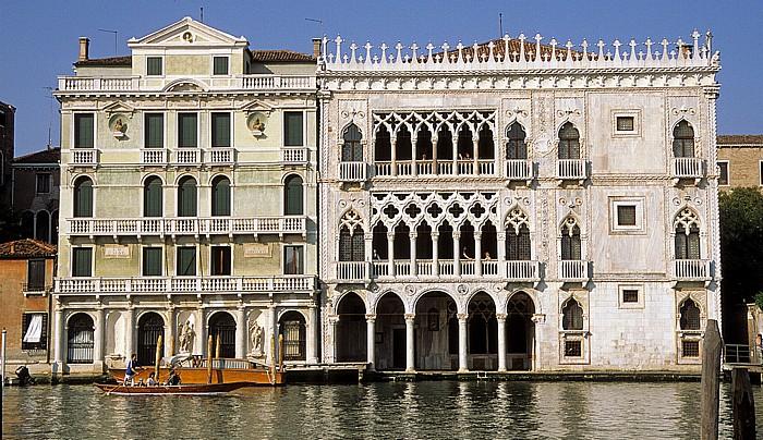 Venedig Canal Grande, Ca' d' Oro (rechts)