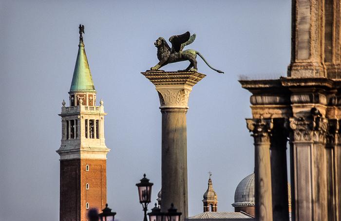 Venedig San Giorgio Maggiore und Säule von San Marco