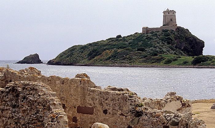 Nora Römische Ausgrabungsstätte, Spanischer Turm