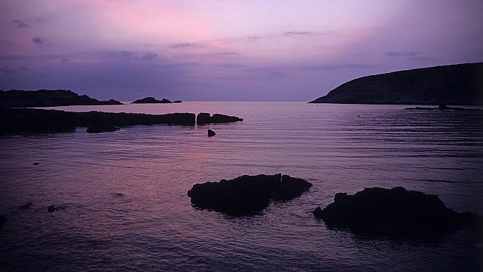 Cala de Saboni Mittelmeer (kurz nach Sonnenuntergang)