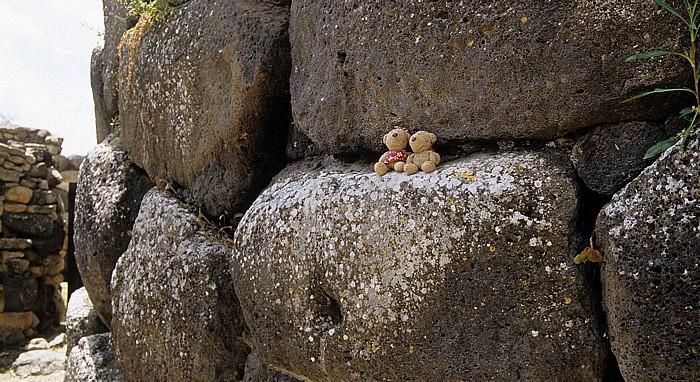 Barumini Nuraghe Su Nuraxi: Teddine und Teddy