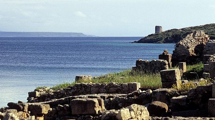 Tharros Ausgrabungsstätte, Golfo di Oristano Torre Vecchia