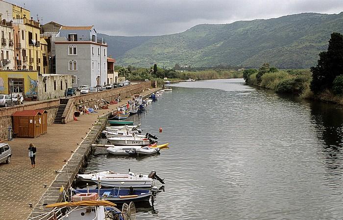 Bosa Fiume Temo mit Fischerbooten