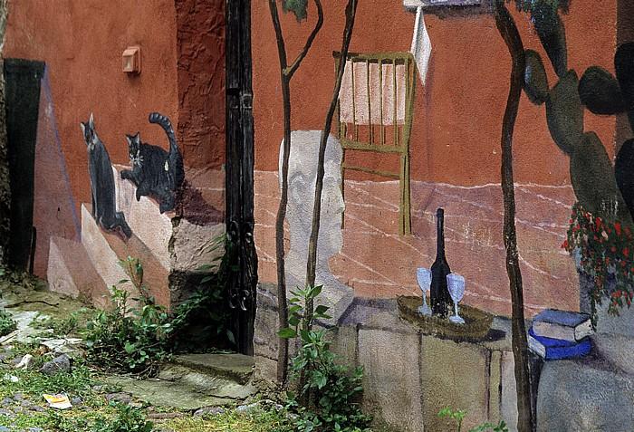 Bosa Altstadt: Wandgemälde