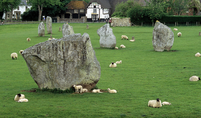 Avebury Äußerer großer Steinkreis: Südwest-Sektor