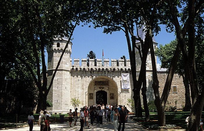 Topkapi-Palast: Erster Hof und Eingang zum Palast Istanbul