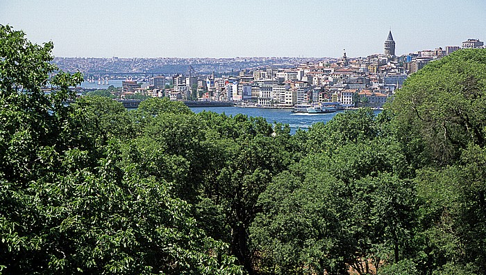 Istanbul Topkapi-Palast: Blick auf Goldenes Horn und Galata
