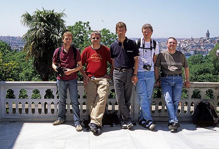 Topkapi-Palast: Ralph, Jürgen, Jörg, Boris, Uwe Istanbul